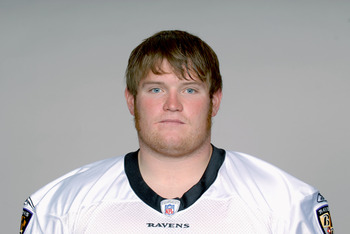 BALTIMORE, MD - CIRCA 2011: In this handout image provided by the NFL,  Marshal Yanda of the Baltimore Ravens poses for his NFL headshot circa 2011 in Baltimore,Maryland. (Photo by NFL via Getty Images)
