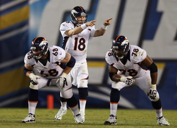 The offensive line will try to keep improving their play to keep Peyton Manning on the field.