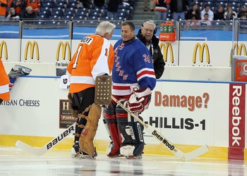 The Beezer minded net for the Rangers in last season's Winter Classic Alumni Game.