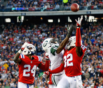 New England's secondary ran into trouble against the Jets.