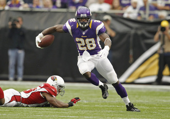 Peterson ran ragged through the Cardinals' defense.