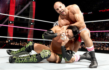 Cesaro looks for revenge after losing to Justin Gabriel on Raw Monday night.   Photo Courtesy of WWE.com