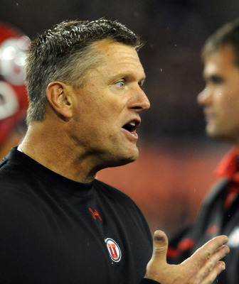 Utah head coach Kyle Whittingham has had a tough go of it.