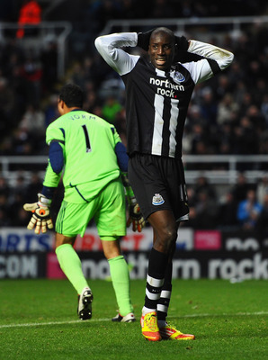 Demba Ba (right) is only going to make things more difficult for himself with his recent demands