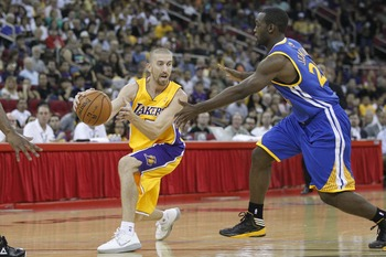 Steve Blake (left) didn't see much success in Week 3. His minutes plummeted from 19 to 7 by week's end.