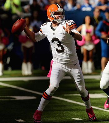 Weeden is finding receivers deep down field