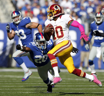 Robert Griffin III is off to the races versus Giants.