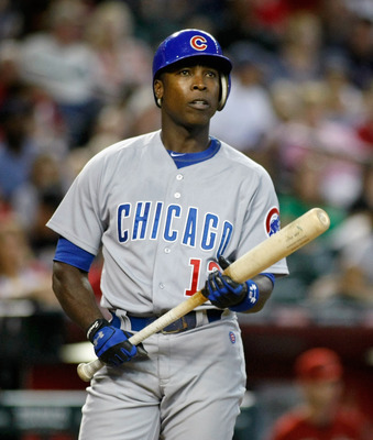 PHOENIX, AZ - SEPTEMBER 30:  Alfonso Soriano #12 of the Chicago Cubs prepares to bat during a MLB game against the Arizona Diamondbacks at Chase Field on September 30, 2012 in Phoenix, Arizona.  (Photo by Ralph Freso/Getty Images)