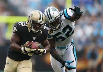 Jon Beason (52) has struggled with knee and shoulder injuries this season, and he has likely lost his MLB position to Luke Kuechly.
