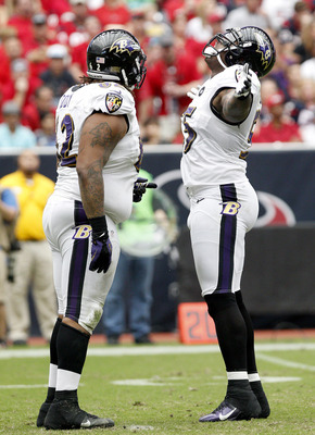 Terrell Suggs after sacking Matt Schaub Sunday against the Texans.