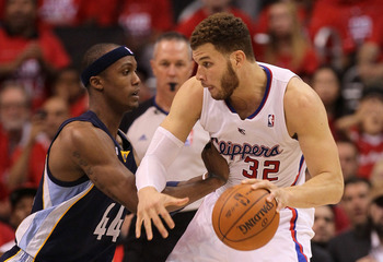 Blake Griffin in Game 6 of the 2012 playoffs against Memphis