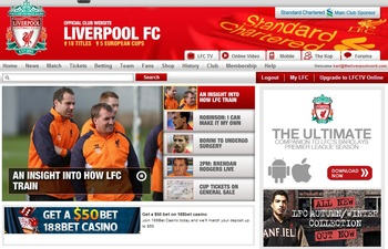 screenshot from liverpoolfc.com