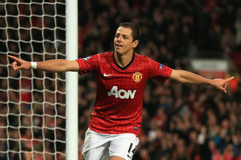 Chicharito Celebrates his Second Goal