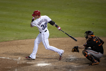 Josh Hamilton went 0-4 in the Rangers' wild card game against the Orioles