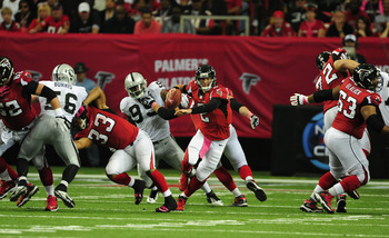 The Oakland Raiders are just one of the teams under .500 the Falcons have played this season
