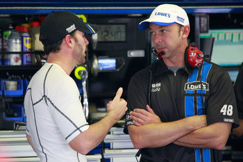 Communication is the key between Johnson (left) and Knaus.