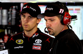 Grubb (right) is going for his second straight Cup title as a crew chief.