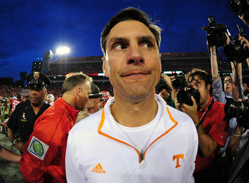 Tennessee Head Coach Derek Dooley.