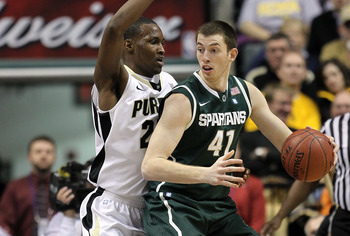 Michigan State transfer Garrick Sherman will provide size off the bench for Notre Dame.