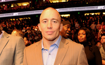 ANAHEIM, CA - NOVEMBER 12:  Mixed martial arts fighter Georges St-Pierre attends UFC on Fox:  Live Heavyweight Championship at the Honda Center on November 12, 2011 in Anaheim, California.  (Photo by Jason Merritt/Getty Images)