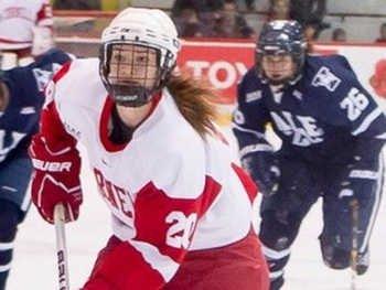 In action with the Cornell Big Red (Photo courtesy of the Brampton Guardian)