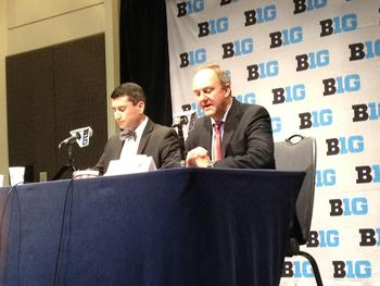 OSU coach Thad Matta at the podium. Photo credit to Michael Norman of the IDS