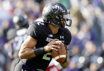 Northwestern went all black as well last weekend. Photo Courtesy of: Yahoo Sports