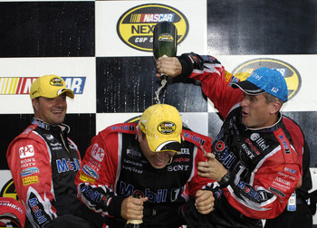 Look for scenes like this from 2005 to happen again in 2013 with Matt Borland and Ryan Newman together again.
