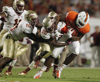 The Seminoles suffocated the Hurricanes' offense.
