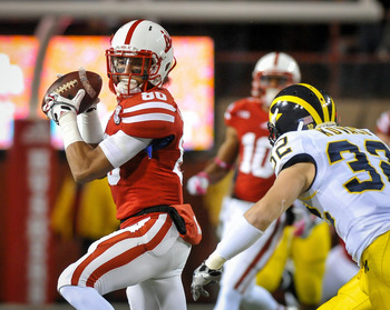 Kenny Bell had the only receiving touchdown for Nebraska against Michigan.