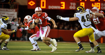 Taylor Martinez was sacked just once against Michigan.