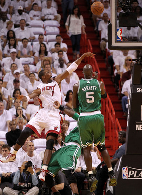 Bosh gets respect when he goes at Garnett.