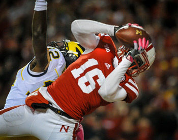 Stanley Jean-Baptiste snagged the final of three interceptions for the Huskers to seal the win.