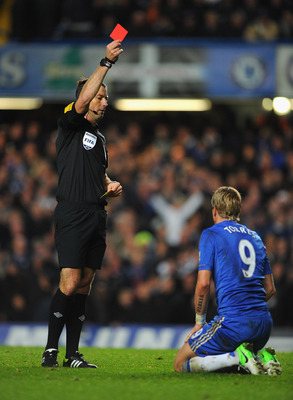 Mark Clattenburg controversially sent off Fernando Torres
