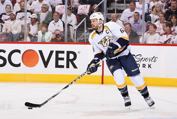Who is going to play next to Shea Weber with Ryan Suter gone? The offseason moves didn't answer that question.