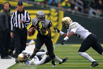 Oregon had 425 yards rushing Saturday.