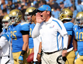 Jim Mora has UCLA at 6-2 on the year.