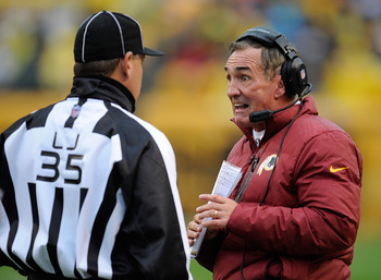 Mike Shanahan had some Halloween-like expressions during Sunday's loss.