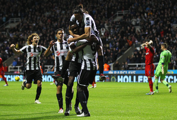 Jubilation as St James' Park erupts