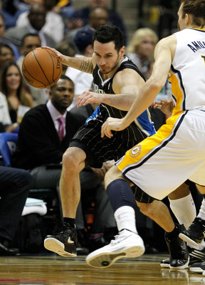 J.J. Redick drives in the Magic's playoff series against Indiana.