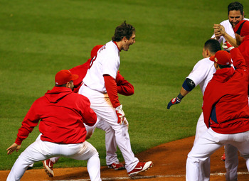 David Freese hit a walk-off home run in the 10th inning.