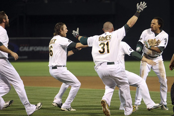 Oakland A's with a walk off win