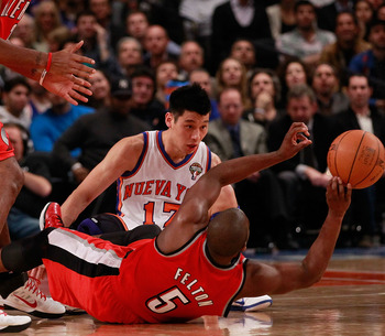 Jeremy Lin and Raymond Felton were face-to-face last year but will be compared and contrasted all season now.