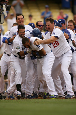 Group celebrations should become the norm for the Dodgers in 2013.