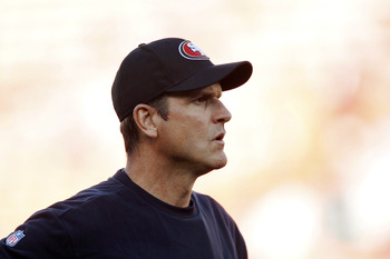 Jim Harbaugh has the 49ers in first place in the NFC West