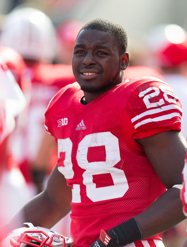 Oct 20, 2012; Madison, WI, USA;  Wisconsin Badgers running back Montee Ball (28) looks on during the game against the Minnesota Golden Gophers at Camp Randall Stadium.  Wisconsin defeated Minnesota 38-13.  Mandatory Credit: Jeff Hanisch-US PRESSWIRE