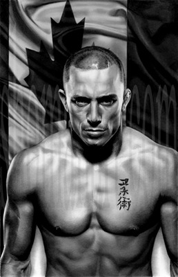 Georges St Pierre: courtesy of http://www.shomanart.com/