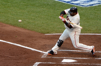 Sandoval unloads his first of three home runs in Game 1.