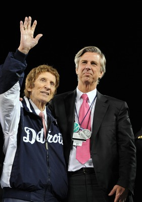 Tigers owner Mike Ilitch and GM Dave Dombrowski.