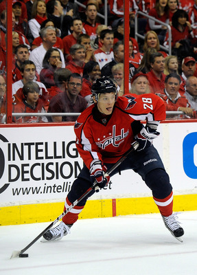 Alexander Semin during the Capitals' Stanley Cup series against the New York Rangers.